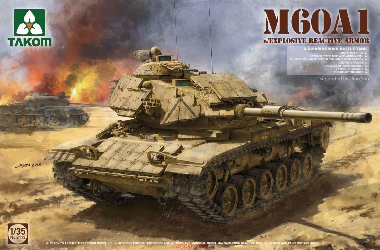Takom 1 35 2113 M60A1 w Explosive Rerctive Armor