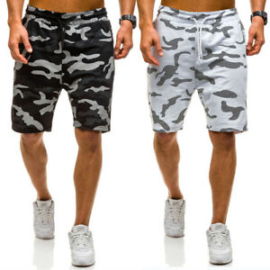 Casual-Mens-Camouflage-Summer-Army-Combat-Camo-Work-Cargo-Shorts-Pants-Trousers