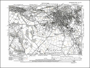Newcastle under Lyme Silverdale old map Staffs 1926 17NE repro