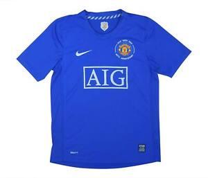 Manchester United 2008-09 Authentic TERZO Camicia (eccellente) L Ragazzi Calcio Jersey