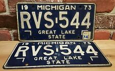 Vintage Michigan License Plates RVS 544