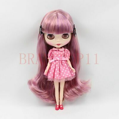 """12/"""" Blythe Doll from factory Nude Long Black Bang hair SJ05 Neemo Jointed Body"""