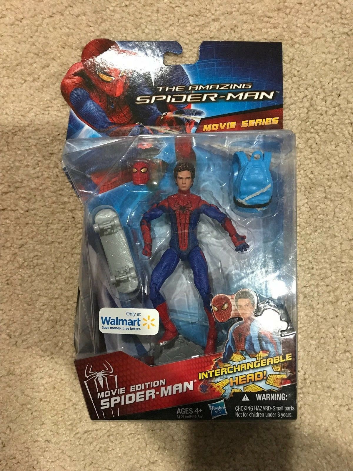 NEW The Amazing Spider-Man Movie Walmart Interchangeable Head Marvel figure