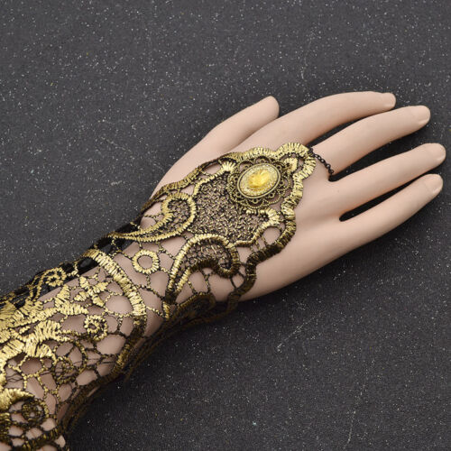 1 Pc Lace Fingerless Long Glove Finger Chain Dress Accessories for Party Wedding