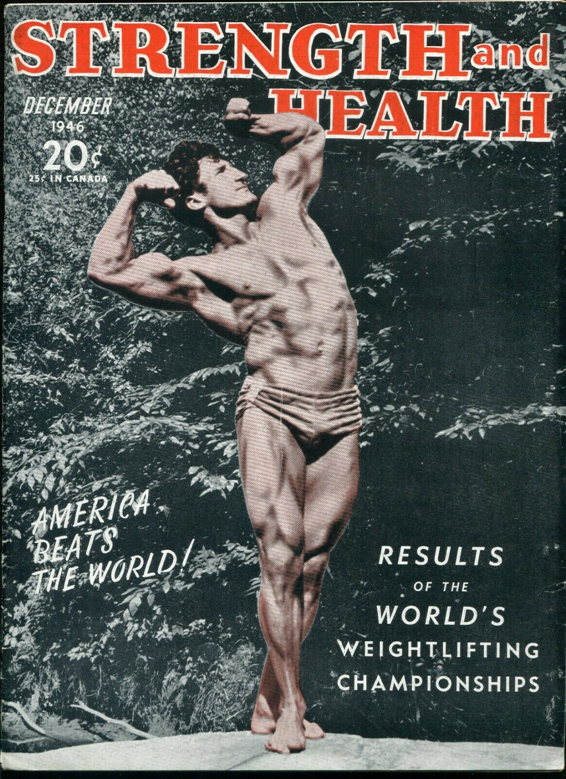 """STRENGTH and HEALTH Magazine December 1946 Bodybuilding Fitness """"Barbelles"""" 1"""