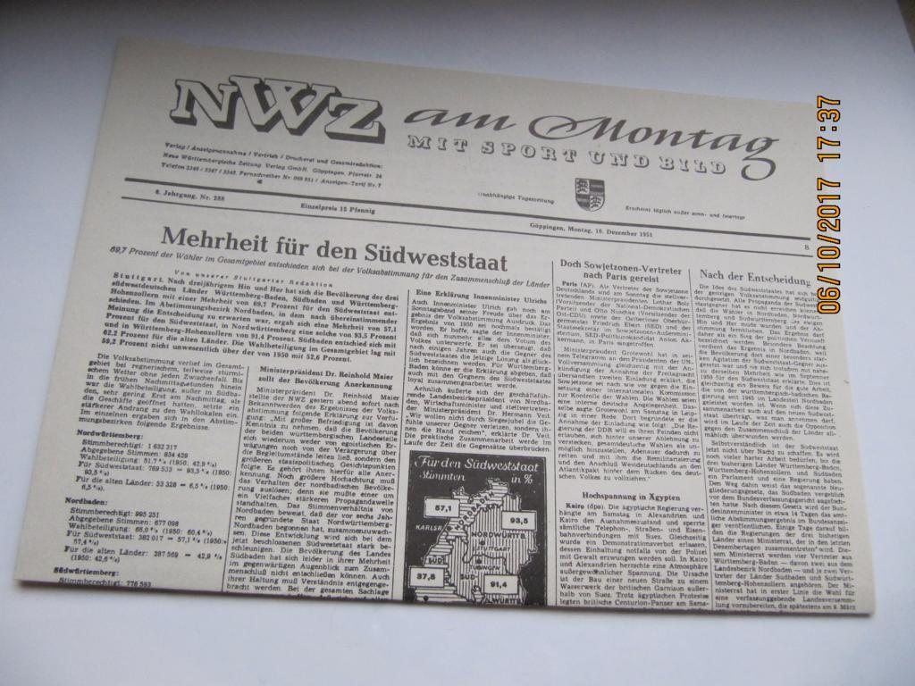 Märklin HO 4392 Wagen-Set 40 40 40 Jahre Baden-Württemberg neuwertig in OVP c89005