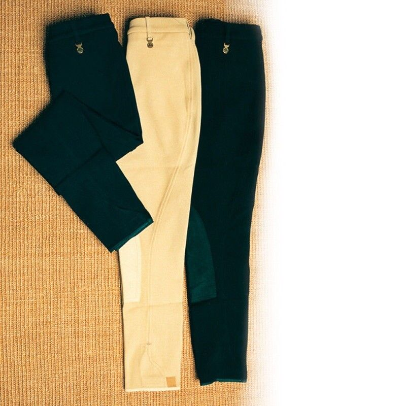 Hac-Tac Ladies Classic Competition Breeches,Ladies Size 28  Beige,Suede Knee