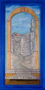 Carlo Massimo Franchi, Milano il futuro è qui, tecnica mista, 78x36 cm, firmata