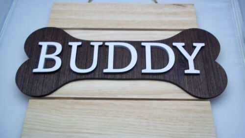 Dog Personalized Bone Family Name Sign Wood House Warming Gift Custom Pet Plaque