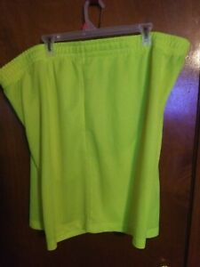 Athletic Works Mens Bright Yellow Shorts 2 XL