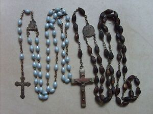Lot-de-2-anciens-chapelets-rosaires-catholique-de-55-8-cm-et-46-3-cm-lot-B22