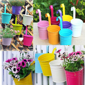 hot mini pot de fleur plastique suspendu int rieure color petits pots fleurs ebay. Black Bedroom Furniture Sets. Home Design Ideas
