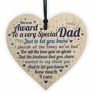 Image Is Loading Dad Christmas Presents Wooden Heart Birthday Gifts For