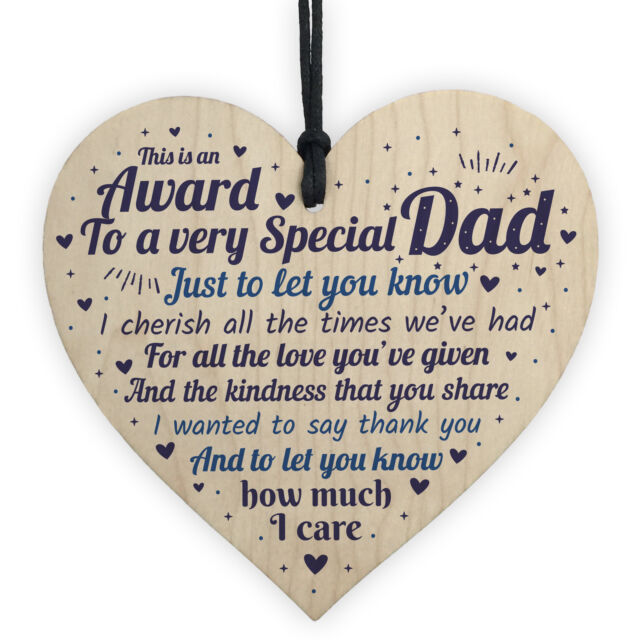 Dad Christmas Presents Wooden Heart Birthday Gifts For Daddy From Daughter Son