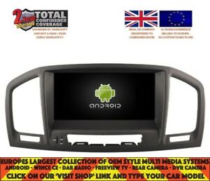 Details about AUTORADIO DVD GPS NAVI BT ANDROID 9 0 DAB+ VAUXHALL OPEL  INSIGNIA RD5753 Black