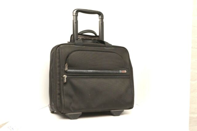 c4833c935d26 TUMI 26102D4 Wheeled Rolling Briefcase Computer Bag carry on nylon black