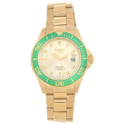 Invicta 17568 Men's Champagne Dial Gold Steel Bracelet Dive Watch