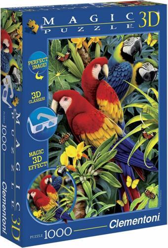 Clementoni 1000 pièces 3d Magic Puzzle lunettes//Majestic Macaws//PERROQUET