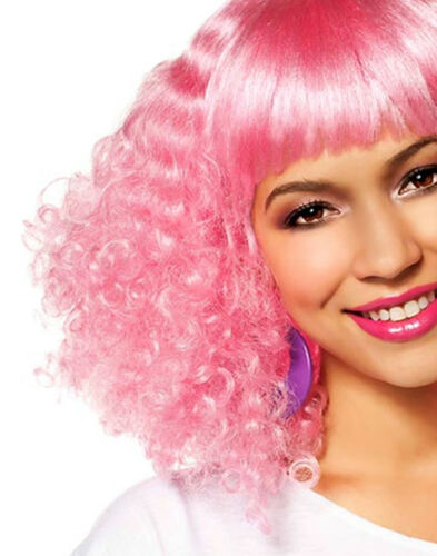Pink Adult Crimped Afro Wig Fun-N-Fab Hair Accessory