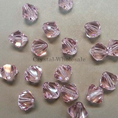 4mm Crystal Antique Pink Genuine Swarovski crystal 5328 XILION Loose Bicone Bead