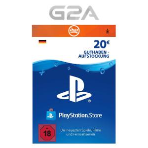 Playstation Network 20 EUR Card - PSN €20 Euro Guthaben Karte - PS4 Pro PS3 [DE]
