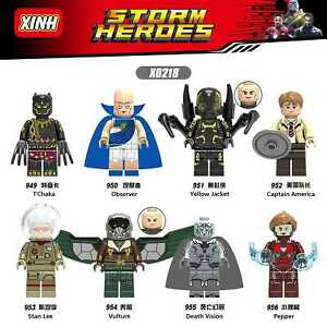 Bausteine-Filmcharakter-Superheld-Stan-Lee-Vulture-Death-Modell-Spielzeug-8PCS