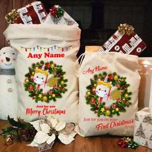Image is loading Personalised-Cute-Unicorn-Santa-Sack-Christmas-Xmas-Bag- 8a92e8fee