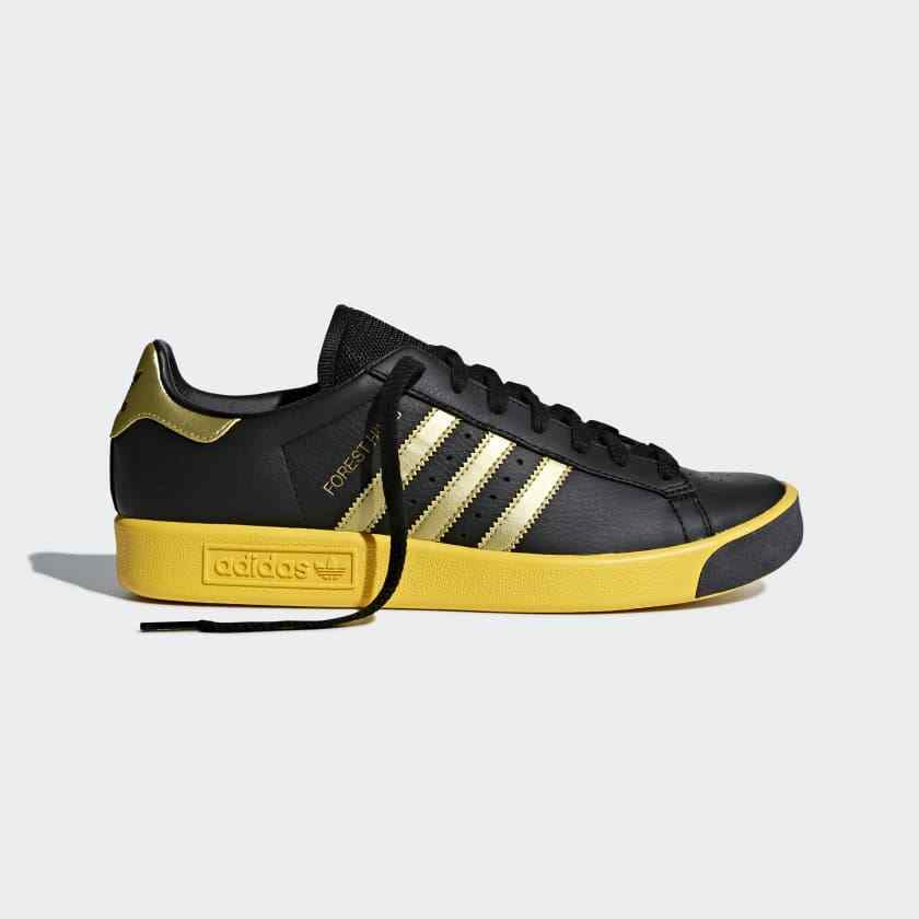 Adidas Originals Forest Hills Sizes 6.5 to 8.5 Black Yellow pink gold CQ2084