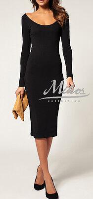 Ellegant Damen Kleid Abendkleid Dress Sexy Dekollete Farbwahl S/M M/L 36 38 40