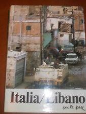 ITALIA LIBANO PER LA PACE APPARTENUTA FAMOSO MAGISTRATO FIRMA GENERALE  sc34