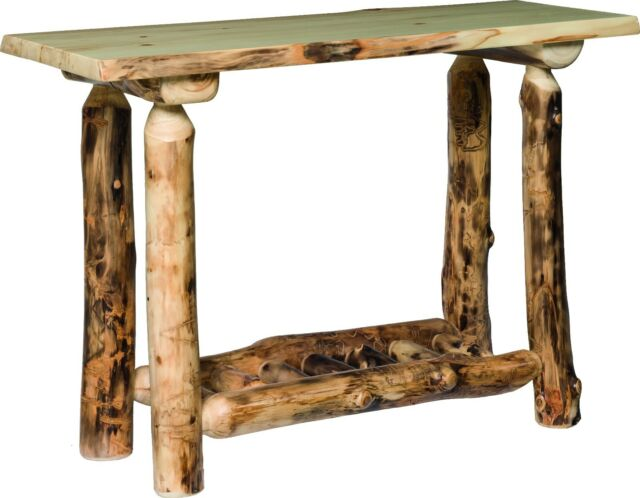 Tremendous Rustic Aspen Log Sofa Table Amish Made In The Usa Cjindustries Chair Design For Home Cjindustriesco