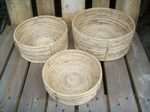 3er Set Körbe Storage Chaka House Doctor Korb Set Brotkorb shabby basket
