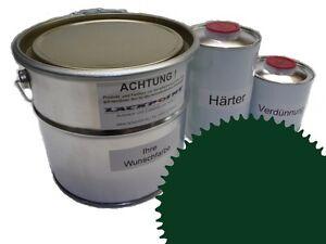3 Liter Set 2K Floor Coating Ral 6005 Moss Green Shine Floor Color Workshop