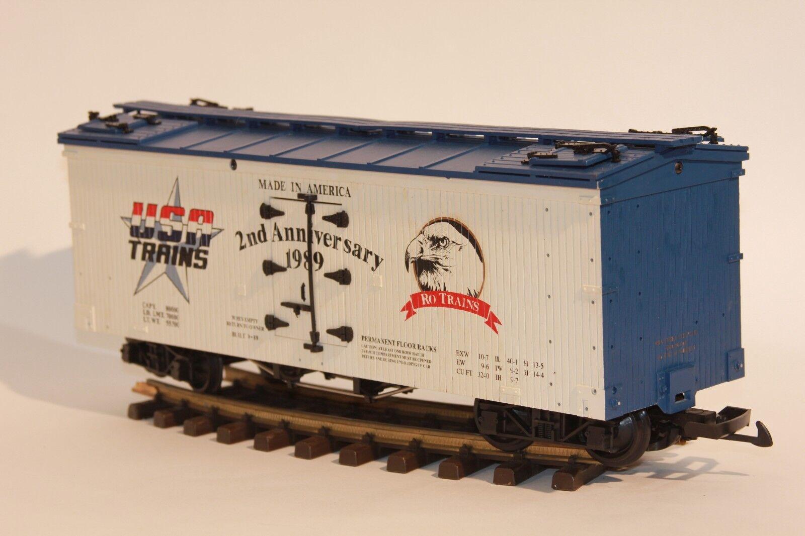 benvenuto a comprare Wood Side Reefer G Scale USA USA USA i treni 2nd Anniversary NOS 1989 Rare Eagle  confortevole