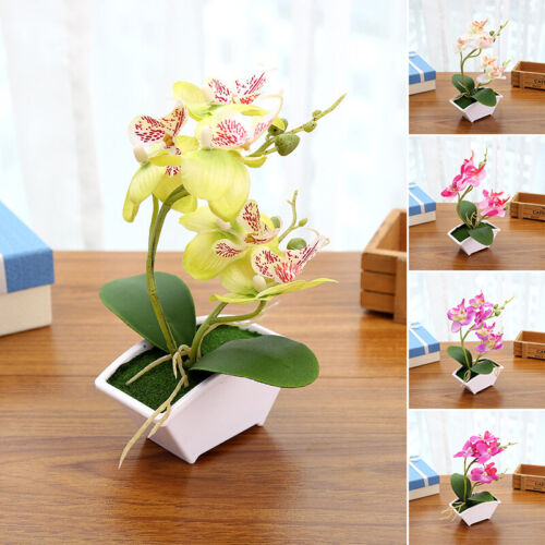 Artificial Mini Fake Butterfly Orchid Flower House Garden Decor 2019 Nice