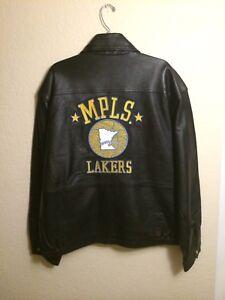 Jeff Hamilton Lambskin Leather Mpls Lakers Jacket Vintage Size Xl Ebay