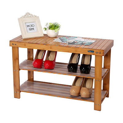 Bambus Schuhregal Schuhen Regal Holz Schuhständer - Auch Sitzbank & Hocker! HOT!