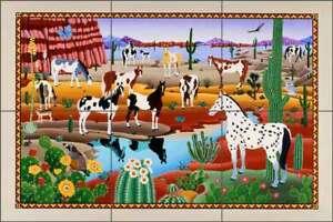 Horse-Tile-Backsplash-del-Rio-Painted-Equine-Art-Ceramic-Mural-POV-RR015