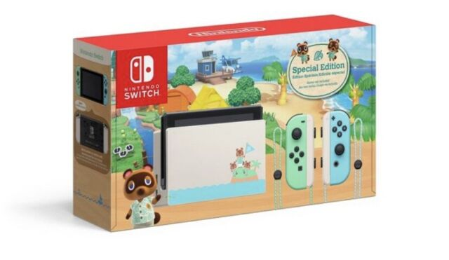 Nintendo Switch Animal Crossing New Horizons Edition 32GB Console W/ NH Guide!