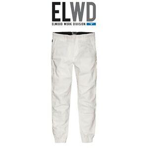 Mens Elwood Work Cuffed Pants Stretch Canvas Tough Tradie Phone Pocket EWD103