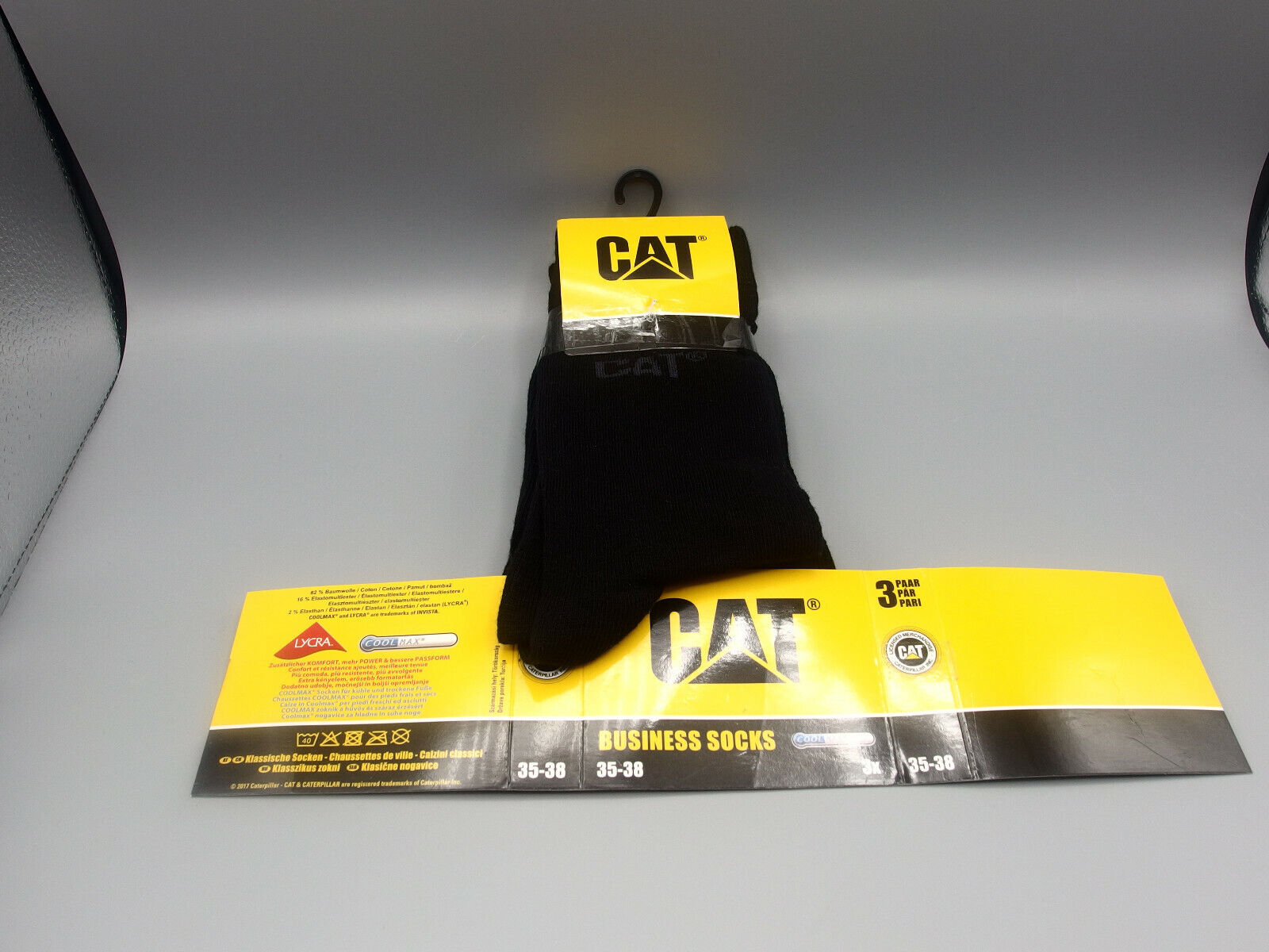 3 Paar CAT® Damen Business Socken Größe 35-38