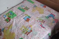Vtg Sesame Street Muppets Jim Henson Twin 2-Piece Bed Set Fitted Flat Sheet