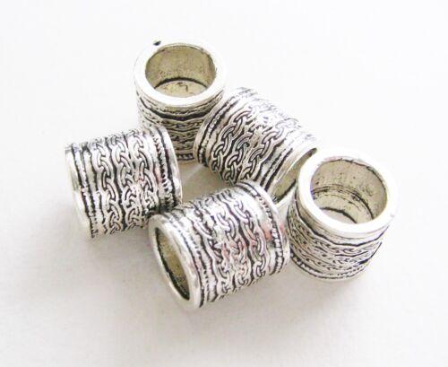 Métal Perles Barrel 13x14mm pour bandes 10 mm 5 Pièce großloch bartperlen
