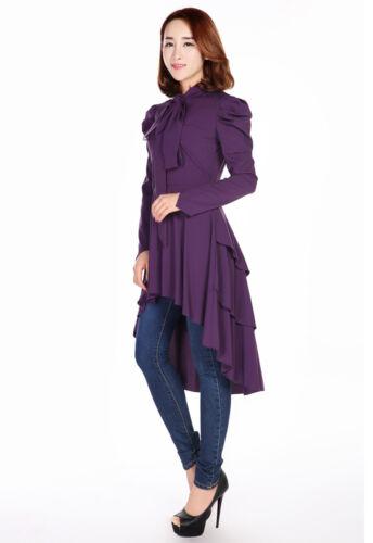 28 Soft dal Dress 6 Romanticismo o Vittoriano Size Long al Top Plus gotico Taglie viola 4UqCwHxn17