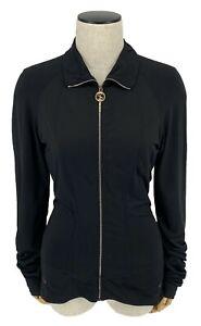 Authentic-GUCCI-GG-Interlocking-Zip-Up-Jacket-M-Sherry-Line-Black-Rank-AB