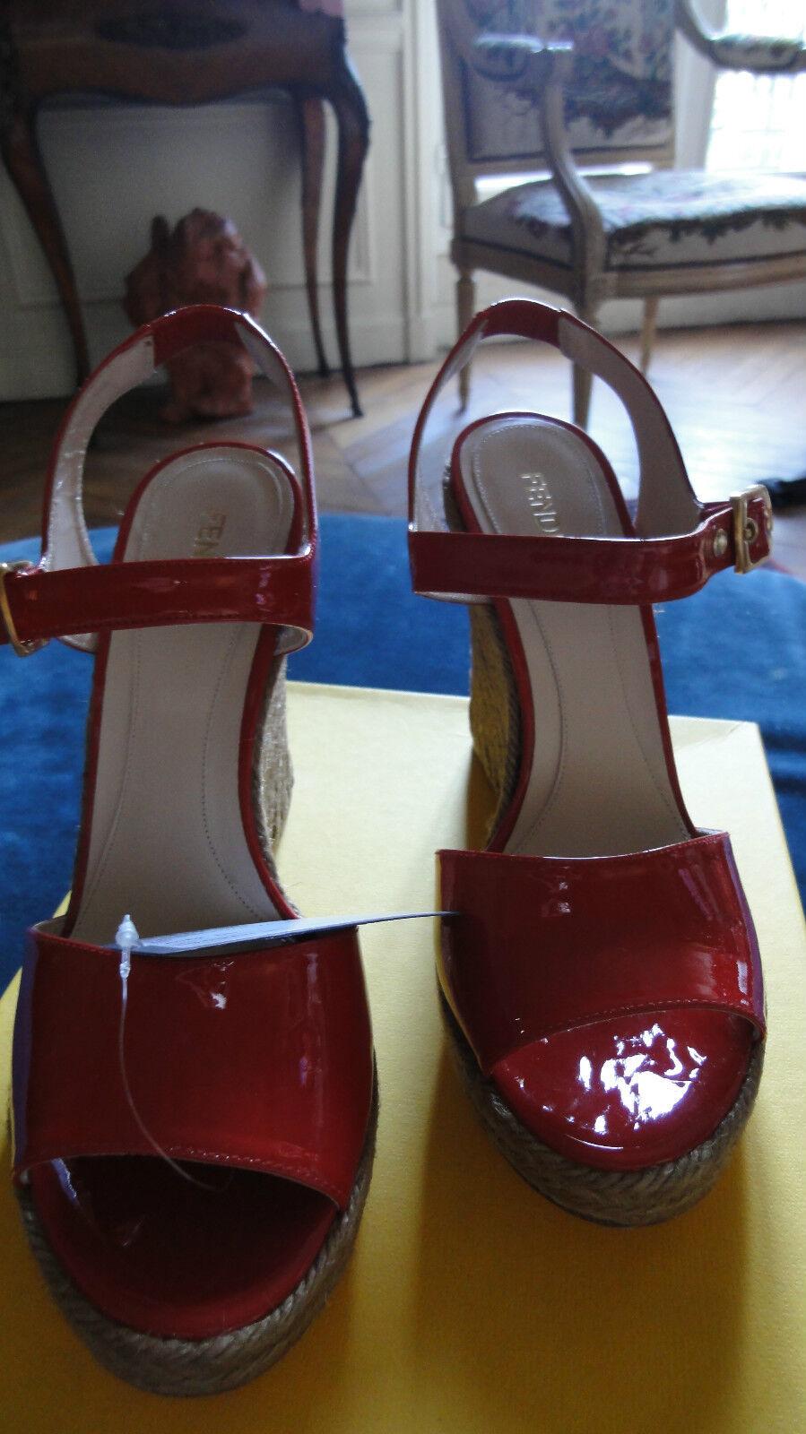 s neuves FENDI rouges T avec 40 cuir avec T boite collaboration CASTANER 46dab2