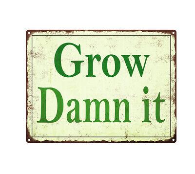 Grow Your Food Vintage Look Garden Chic  Metal Sign 108120020032