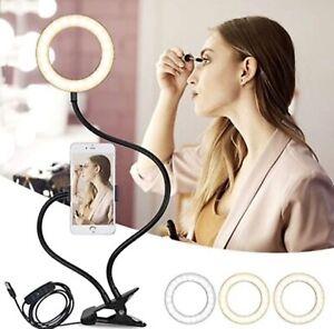 Anello Selfie Luce, EyeGrab rotazione 360 ° con supporto del telefono cellulare 3 modalità di luce