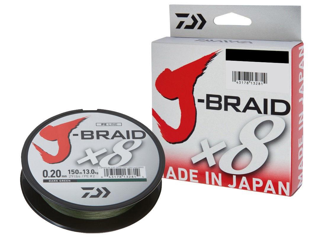 Daiwa J-Braid X8   300m   Dark Green   PE braided line   filo da pesca trecciato