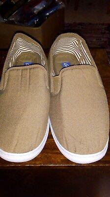Para Hombre CHUMS Twin Escudete Zapatos De Lona Marrón UK 7 (B1) Brett